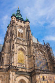 The west facade of St. Vitus Cathedral in Prague — Stock Photo