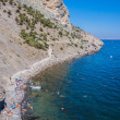 Sudak beach. Black Sea, Ukraine — Stock Photo