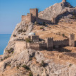 Ruins of The Genoa Fortress in Sudak, Crimea — Stock Photo