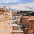 Rome, Italy. Peter's Square in Vatican — Stock Photo