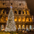 Coliseum of Rome, Italy on Christmas — Stock Photo