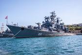 Russian warship in the Bay, Sevastopol — Stock Photo