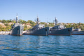 Russian warship in the Bay, Sevastopol — Stock Photo