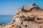 Ruins of The Genoa Fortress in Sudak — Stock Photo