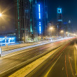 Dubai Downtown at night, United Arab Emirates — Stockfoto