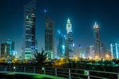 Dubai Downtown at night, United Arab Emirates — Stock Photo