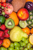 Huge group of fresh fruits — Stock Photo