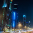 Dubai Dowtown at ngiht, United Arab Emirates — Stock Photo