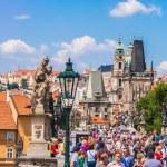 Karlov or charles bridge in Prague in summer — Stock Photo #35291421