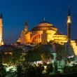 Hagia Sophia in Istanbul Turkey at night — Stock Photo