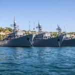 Russian warship in the Bay, Sevastopol, Crimea, Ukraine — Stock Photo
