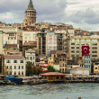 Cityscape with Galata Tower over the Golden Horn in Istanbul — Stock Photo