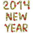 New Year's Eve greeting. 2014 — Stock Photo