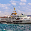 Ferryboat in Istanbul Turkey transporting people — Stock Photo