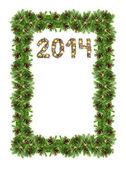 Tarjeta de navidad con un deco navidad 2014 — Foto de Stock