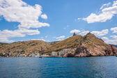 夏ビュー海岸。sudak ビーチ。黒海、ウクライナ — ストック写真
