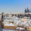 Prague in winter, panorama and cityscape — Stock Photo #35763931