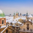 Prague in winter, panorama and cityscape — Foto Stock