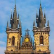 Church of Our Lady before Tyn in evening in Prague — Stock Photo