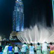 Address Hotel in the downtown Dubai area overlooks the famous dancing fountains — Stock Photo #35968333