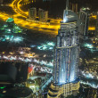 Address Hotel at night in the downtown Dubai area overlooks the — Stock Photo