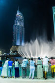 Address Hotel in the downtown Dubai area overlooks the famous dancing fountains — Стоковое фото