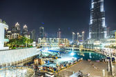 View on Burj Khalifa and Dubai Mall, Dubai, UAE, at night — Stock Photo