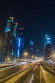 Dubai Dowtown at ngiht, United Arab Emirates — Stock Photo