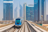 Dubai metro railway — Stock Photo