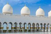 Abu dhabi moskén sheikh zayed vit — Stockfoto