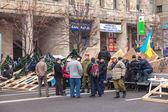 Protest on Euromaydan in Kiev against the president Yanukovych — Stockfoto