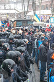 ヤヌコーヴィチ大統領に対してキエフの euromaydan の抗議します。 — ストック写真