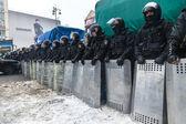 Protesta en euromaydan en kiev contra el presidente yanukovich — Foto de Stock