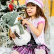 Happy small girl have a christmas — Stock Photo #37097461