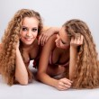 Stock Photo: Two girls twins