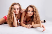 Two girls twins — Stock Photo