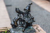 Sculpture of gnome from fairy-tale in Wroclaw — Stock Photo
