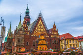 Poland, Wroclaw city with it's landmark - Town Hall in tradition — Stock Photo