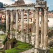 Stock Photo: Roman ruins in Rome.