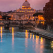 Vatican and river Tiber in Rome — 图库照片