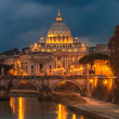 Vatican and river Tiber in Rome — Stock Photo