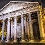 Постер, плакат: Pantheon at night