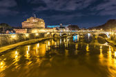 Bridge of Sant'Angelo in Rome — Stock Photo