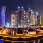 Постер, плакат: Dubai Marina cityscape
