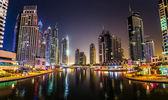 Dubai Marina cityscape — Foto de Stock