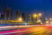 Dubai Dowtown at night — Stock Photo