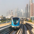 Dubai metro railway — Stock Photo #39045901