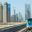 Dubai metro railway — Stock Photo #39045915