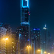 Stock Photo: Dubai Dowtown at ngiht