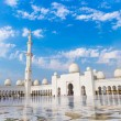 Stock Photo: Abu Dhabi Sheikh Zayed White Mosque